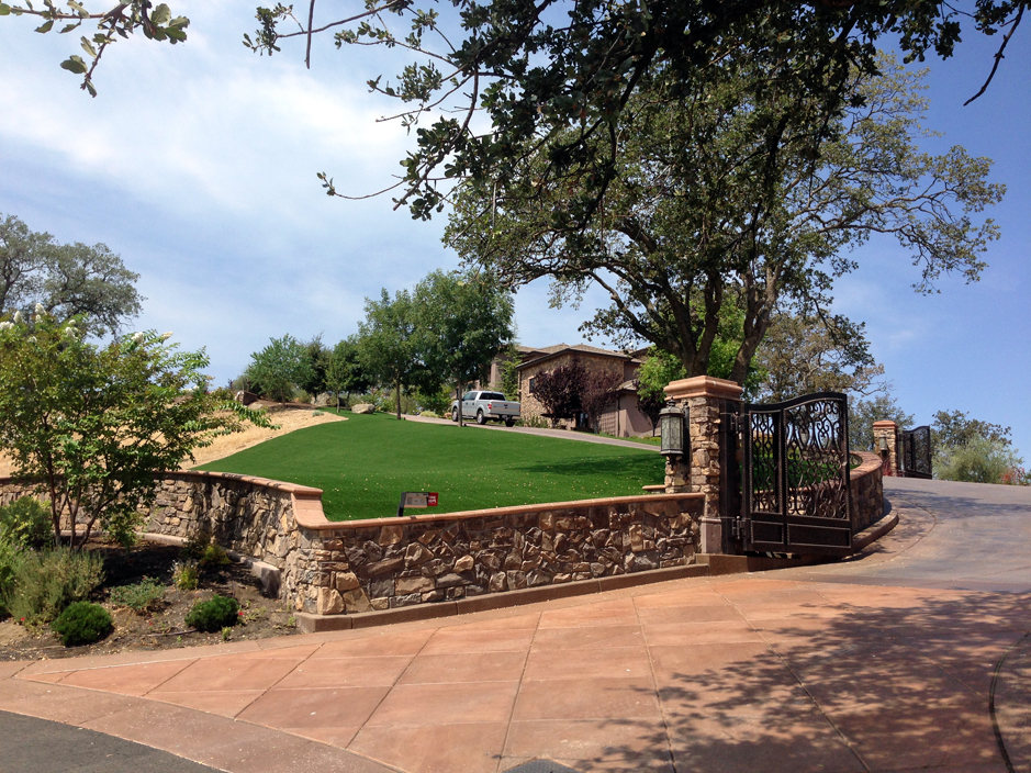 Artificial Turf Installation Sun City California Roof Top Front Yard Design