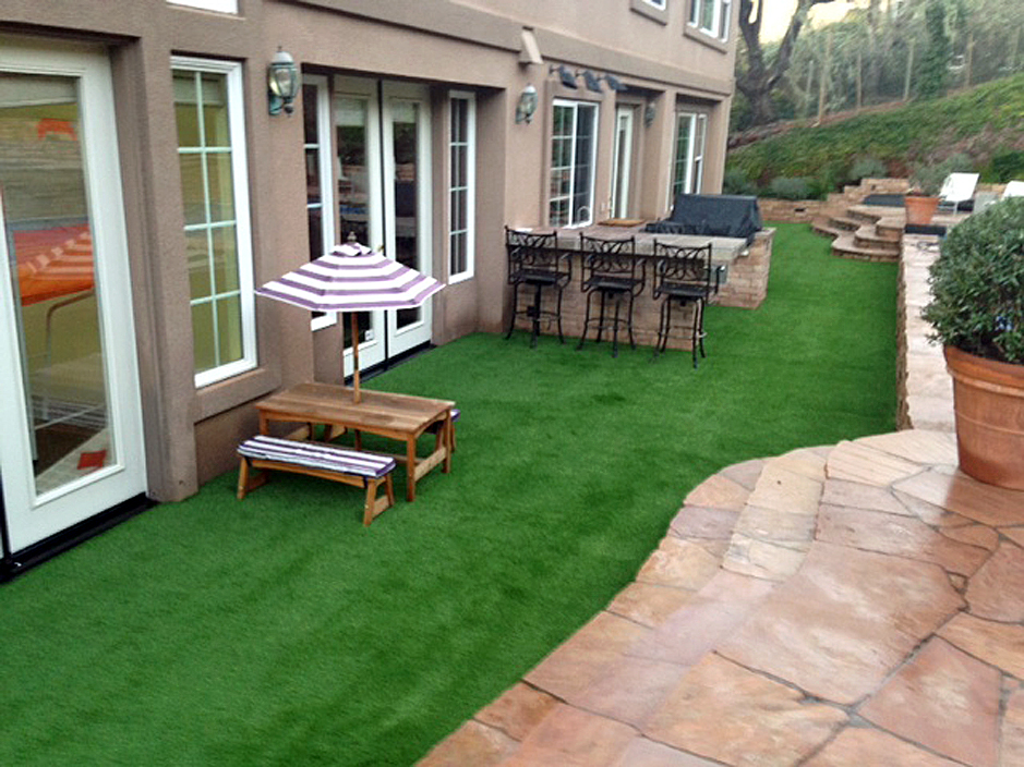 Fake Lawn Lake Elsinore California Paver Patio Backyard Landscaping