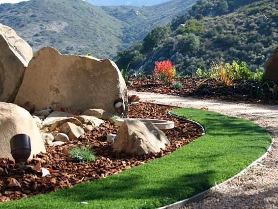 Artificial Grass Photos: Artificial Grass Installation Thousand Palms, California Landscape Rock, Front Yard