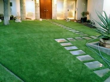 Artificial Grass Photos: Artificial Turf Installation Banning, California Roof Top, Pavers