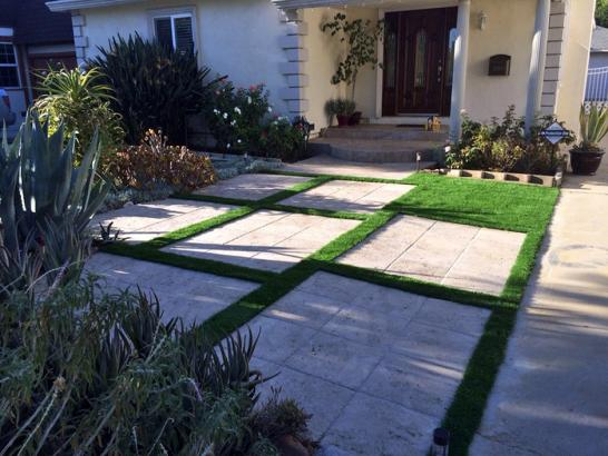 Artificial Grass Photos: Grass Installation Valle Vista, California Landscape Photos, Front Yard Design