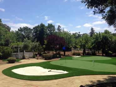 Artificial Grass Photos: Installing Artificial Grass Desert Edge, California Office Putting Green, Front Yard Design
